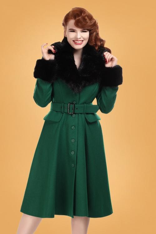 Collectif 29893 Cora Swing Coat in Green 20190430 020L W