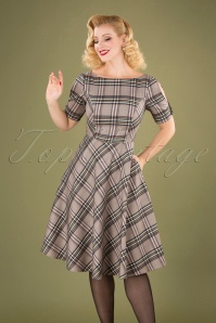 Banned Retro 30652 Swingdress Check Beige Multy 09022019 040MW