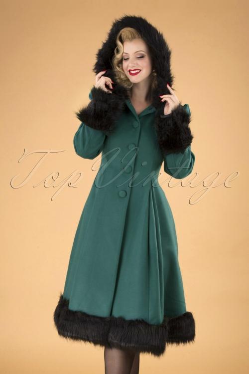 Bunny Elvira Teal Faux Fur Wintercoat 152 20 16727 20150921 040MW