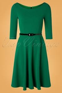 Vintage Chic 31430 Emerald Green Swing Dress 20190906 002W