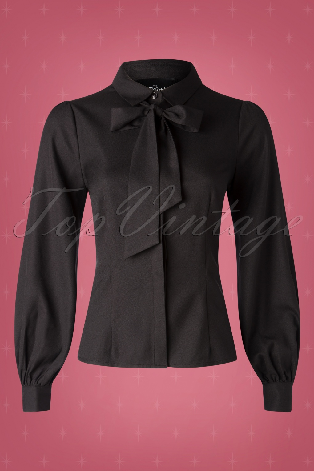 1940s Blouses and Tops 40s Beccy Blouse in Black £35.85 AT vintagedancer.com