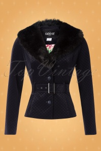 Collectif TV 30811 Jacket Navy Velvet Quilted Molly 18 0007W