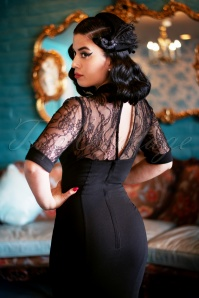 Collectif TV 30812 Pencildress Black Lace Wednesday 19 2093W