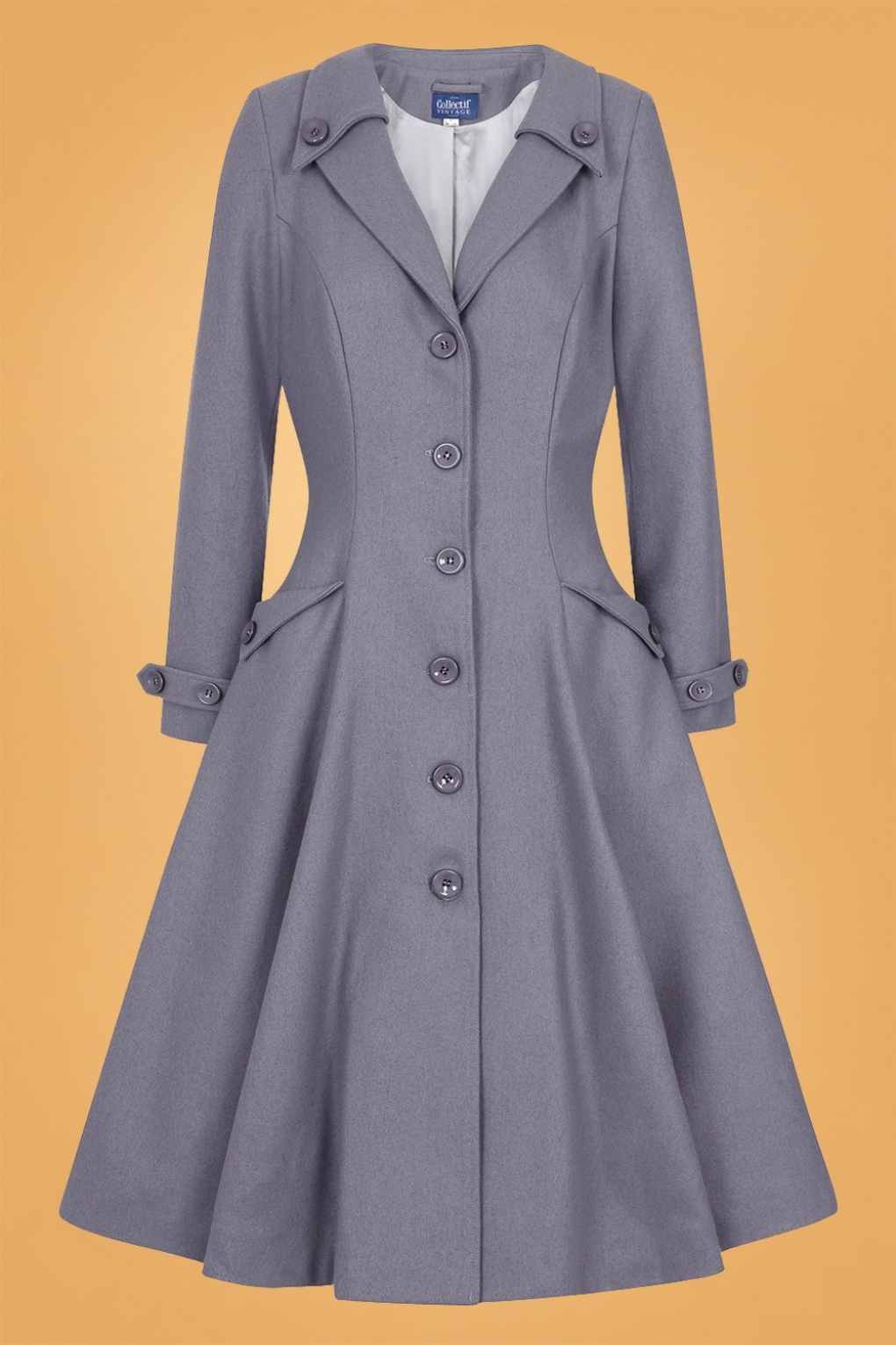 1950s Jackets, Coats, Bolero | Swing, Pin Up, Rockabilly 50s Alyssa Swing Coat in Grey £151.48 AT vintagedancer.com