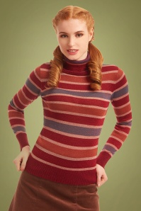 Bright Beautiful 30180 Tova Quirky Striped Turtle Neck 20190710 020L W