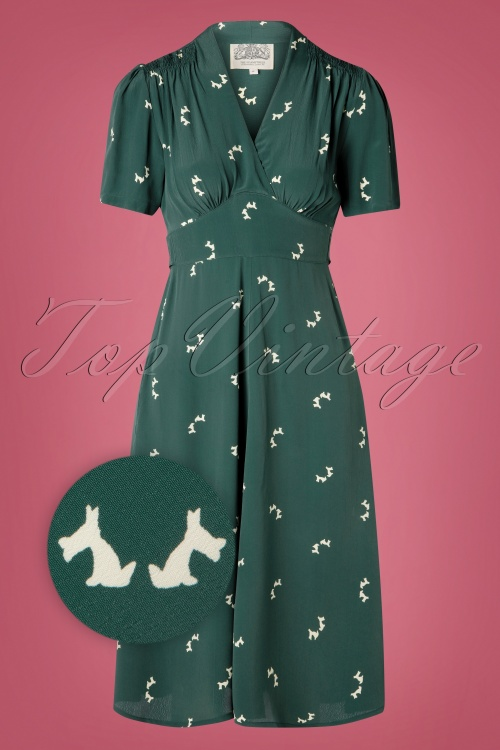 The Seamstress of Bloomsbury 32292 Delores Dog Swing Dress 20191007 003 Z