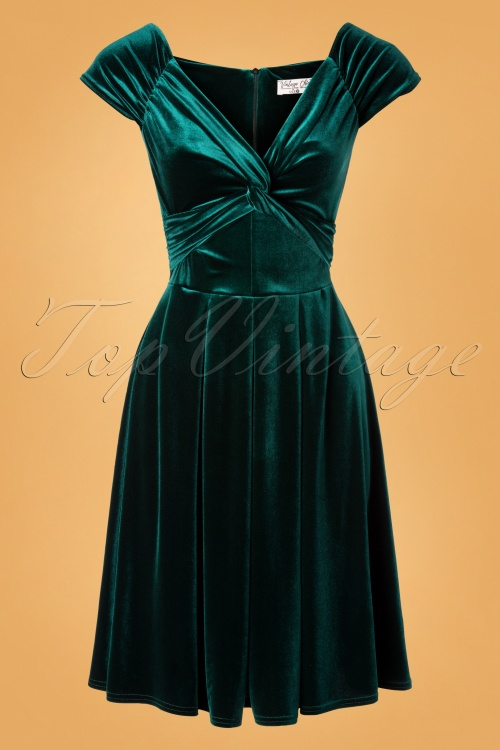 Vintage Chic 32105 Velvet Twiste Green20191009 007W