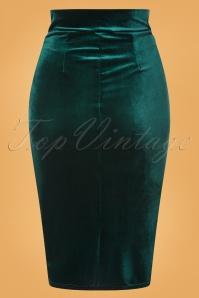 Vintage Chic 31530 Plaon Velvet Bottle Green20191009 009W