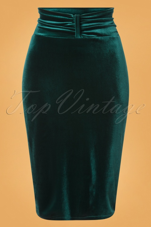 Vintage Chic 31530 Plaon Velvet Bottle Green20191009 002W