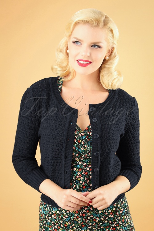 Mak Sweater 50s Jennie Blue Cardigan 140 40 26695 20180806 1 W