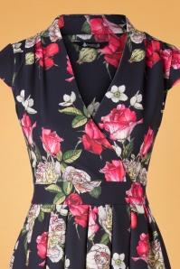 Lady Vintage 32477 Swingdress Eva Black Floral Amore 10102019 005V
