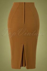 Miss Candyfloss 31010 Pencilskirt Brown 10102019 004W