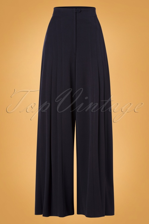 Miss Candyfloss 31046 Trousers Navy Wide 07112019 000001 W