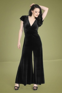 Bunny 50s Mischa Jumpsuit in Black