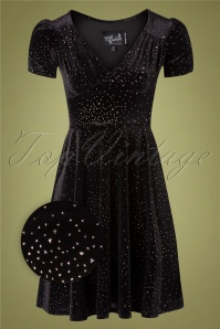 Bunny 30875 Swingdress Black Glitterbelle 10102019 010Z