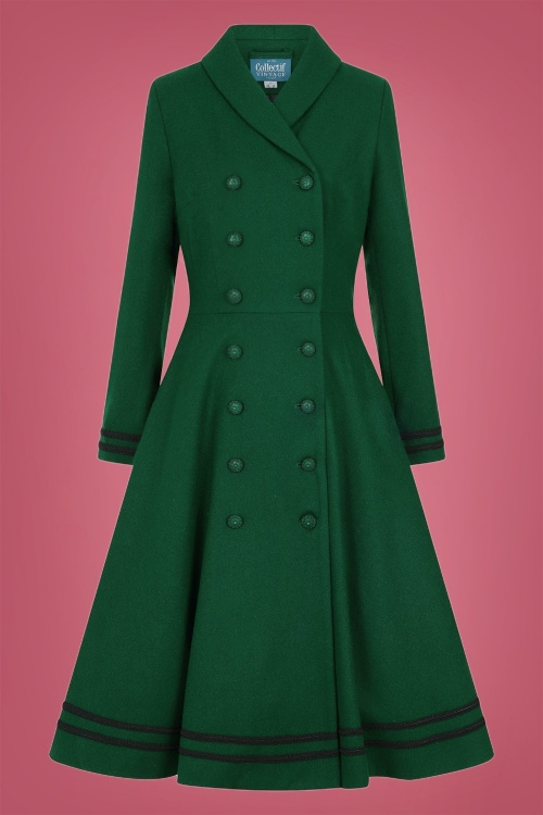 Collectif 29899 Marina Swing Coat in Green 20190430 021LW