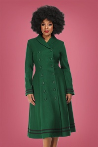 Collectif 29899 Marina Swing Coat in Green 20190430 020LW