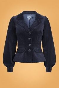 Collectif 29888 Brianna Suit Jacket in Navy 20190430 021LW