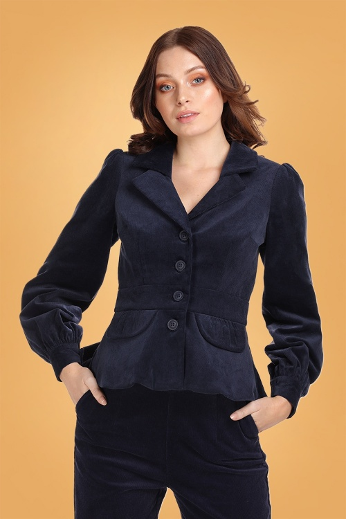 Collectif 29888 Brianna Suit Jacket in Navy 20190430 020L