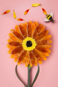 60s Sunshine of Life Brooch