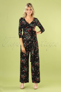 70s Farah Matcha Jumpsuit in Black