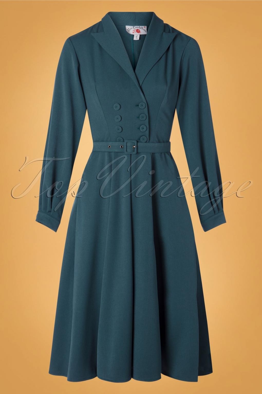 50s Dresses UK | 1950s Dresses, Shoes & Clothing Shops 50s Mabel Kat Swing Dress in Teal £93.69 AT vintagedancer.com