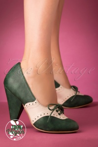 Bettie Page 29735 Carole Bootie Green White 20191010 004 Vegan   kopie