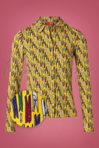 Wow To Go! 60s Daisy Dry Blouse in Yellow