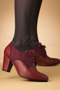 Lulu Hun 40s Vera Shoe Booties in Burgundy