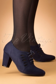 Lulu Hun 50s Gertrude Pumps in Navy