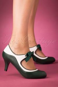 Lulu Hun 30539 Jeanie High Heels Green White 20191010 005 W