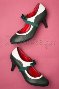 Lulu Hun 50s Jeannie Pump in Green