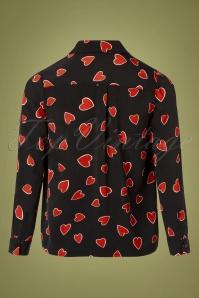 Compania Fantastica 30321 Heart Print Blouse 20191014 0011 W