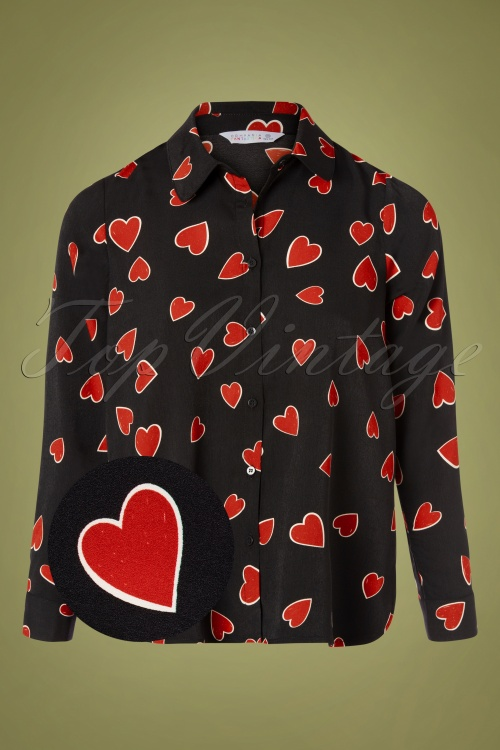 Compania Fantastica 30321 Heart Print Blouse 20191014 0007 Z