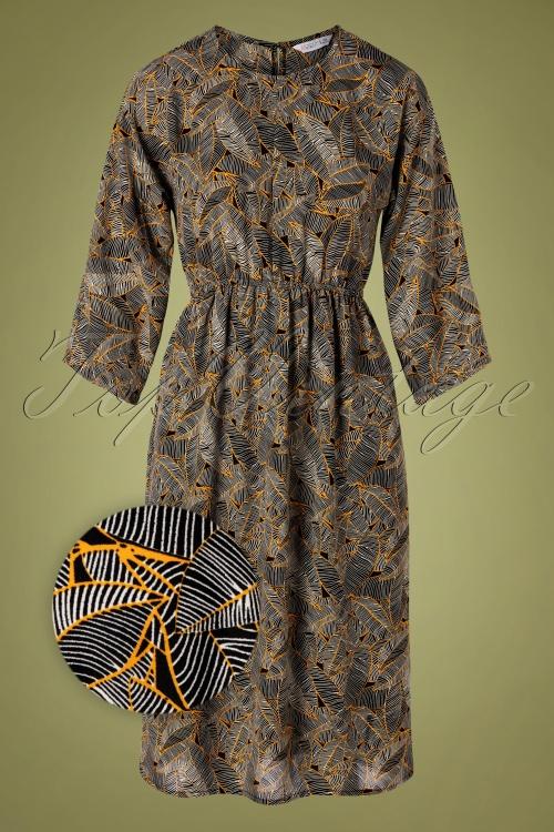 Compania Fantastica 30313 Leaf Print Dress 20191014 0005Z