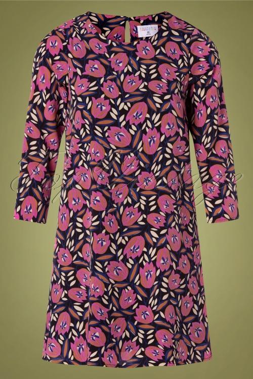 Compania Fantastica 30314 Flower Print Dress 20191014 0001 W