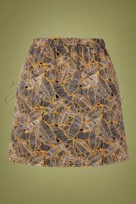 Compania Fantastica 30320 Leaf Print Skirt 20191014 0004W
