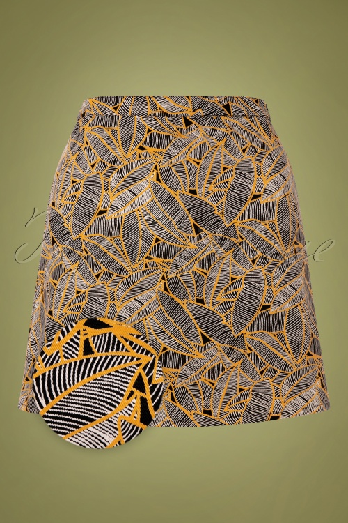 Compania Fantastica 30320 Leaf Print Skirt 20191014 0002Z