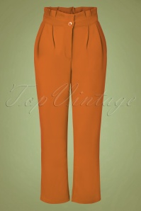 70s Hadley Paperbag Trousers in Cinnamon Orange