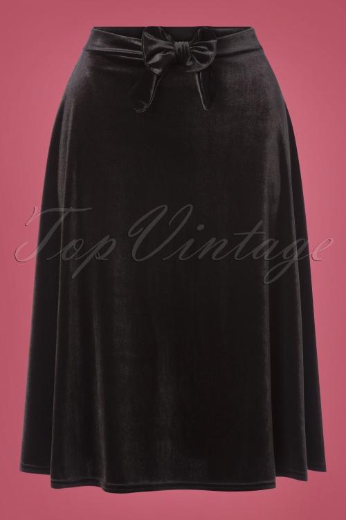 Vintage Chic 31529 Velvet Bow Skirt 20191014 0003W