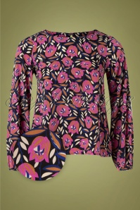70s Leliah Floral Blouse in Multi
