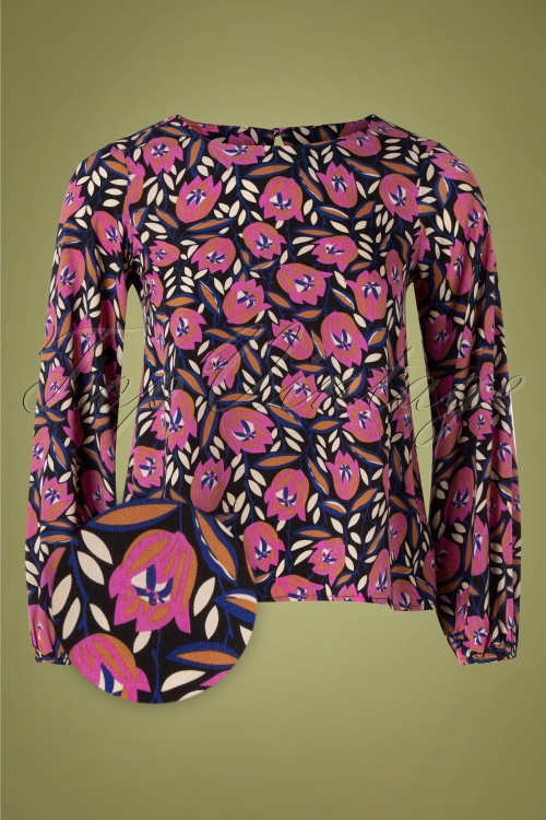 Compania Fantastica 30324 Blouse Pink Floral 10162019 055 (1) (1) Z