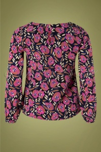 Compania Fantastica 30324 Blouse Pink Floral 10162019 004 W
