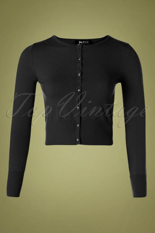 Mak Sweater 32366 Cardigan Crop Black 10162019 003W