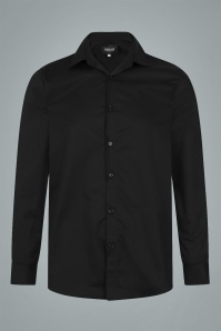 Collectif 31598 Hunter Plain Shirt in Black 20191014 020LW