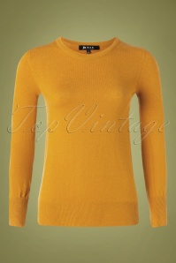 Mak Sweater Kelly Sweater Années 50 en Jaune Or