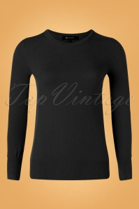 Mak Sweater Kelly Sweater Années 50 en Noir