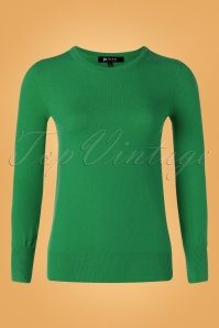 Mak Sweater 50s Kelly Sweater in Emerald Green