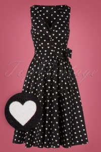 Lady V by Lady Vintage 50s Dorothy Sweetheart Dress in Black