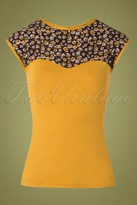 50s Kizzie Top in Mustard